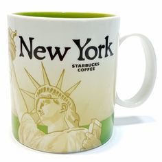 New York Starbucks 2008 Collector Series Coffee Mug Cup 16 oz Statue of Liberty #Starbucks