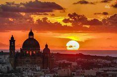 Sunset in Gozo, Malta.