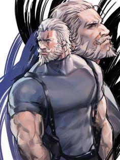 Comic Character, Character Concept, Greek Goddess Art, Fantasy Characters, Anime Characters, Overwatch Fan Art, Cartoon Man, Guy Drawing, Bear Men