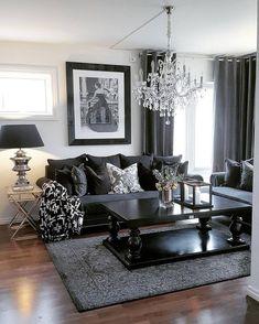 Cozy glam living room ideas 80 for the home в 2019 г. Living Room Decor Cozy, Small Living Room Decor, Black Living Room, Living Room Designs, Glam Living Room, Living Decor, House Interior, Room Decor, Apartment Decor