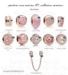pandora rose autumn 2017 decorative charms