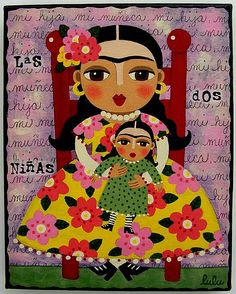 off until Dec 15 ! Frida Kahlo and Doll 8 x 10 giclee PRINT of painting by LuLu Mypinkturtle Frida Kahlo Diego Rivera, Frida And Diego, Art Beauté, Frida Art, Doll Painting, Mexican Folk Art, Oeuvre D'art, Paper Dolls, Giclee Print