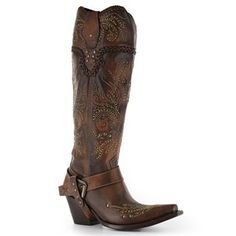 "Corral Women's 15"" Whip Stitch Fashion Western Boots"