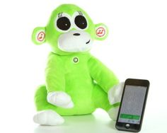 Bunga Bluetooth Monkey. Fun and cool plush toy. Wirelessly connect to smartphone or bluetooth enabled device for multifunction-interactive.