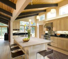 remodeled mid century kitchen in Palo Alto, from Mid-Century Modern Palo Alto.com
