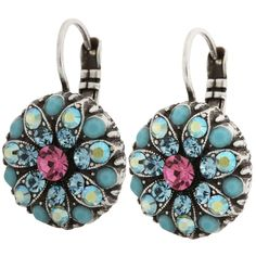 Mariana Silver Plated Flower Blossom Swarovski Crystal Earrings, Summer Fun. Available at www.regencies.com