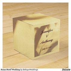 Asian Motif Wedding Favor Box