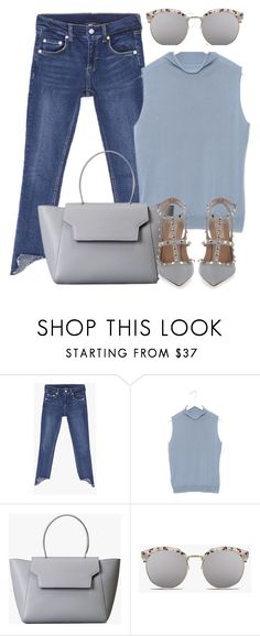"""Pastel Blue"" by genuine-people ❤ liked on Polyvore featuring Valentino and Blue"