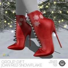 G&D Ankle Boots Snowflake Red Group Gift