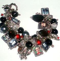 edgar allen poe inspired bracelet