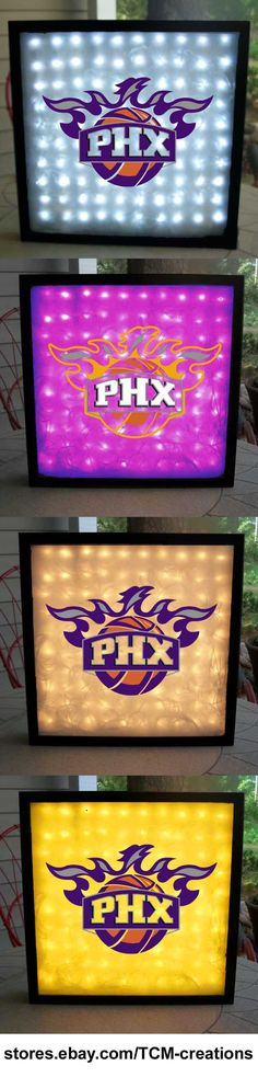 Phoenix Suns shadow boxes with LED lighting.  NBA, National Basketball Association