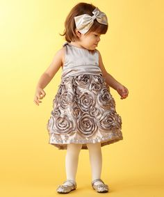 Take a look at this Silver Rose Dress - Infant by Caught Ya Lookin' on #zulily today!