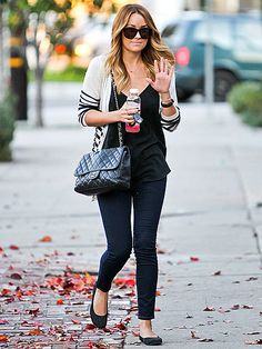 Love everything about this look. Effortlessly chic with a touch of comfortable! #chanel