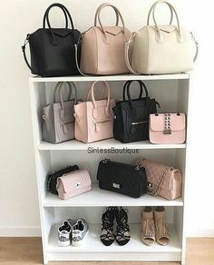 33 Ideas For Clothes Closet Organization Shoes Organizer Storage Ideas Sac Michael Kors, Bag Closet, Handbag Storage, Handbag Display, Shoe Display, Closet Organization, Organisation Ideas, Storage Ideas, Cute Bags