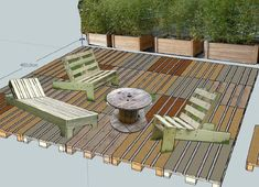 terrasse palettes