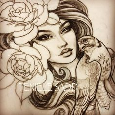 Last sketch I'll be posting for a couple of weeks because I'm on my way to Morocco! Tattoo Sketches, Tattoo Drawings, Art Drawings, Baby Tattoos, Flower Tattoos, Tatoos, Mother Nature Tattoos, Tattoo Nature, Pictures To Draw