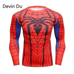 Mens Anime The spiderman Printed running T Shirts Compression Shirt Fitness Men Crossfit Long Sleeve T Shirt Brand Clothing Marvel Anime, Sport Outfits, Summer Outfits, Shirt Price, Mens Sweatshirts, Long Sleeve Tops, Fitness Men, Sleeves, T Shirt