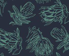 Line Protea Breeze on Denim | Design Team