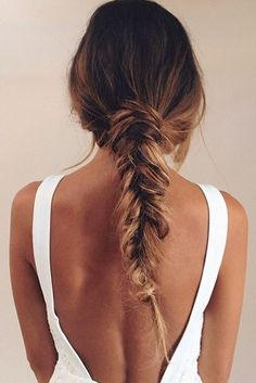 Who doesn't love a messy summer braid? #messy #highlights #caramel