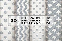 Decorative hand drawn patterns by wedraw on @creativemarket