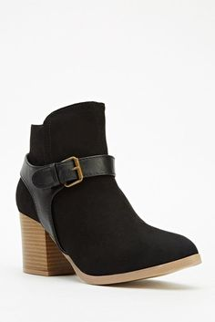 Womens Ladies Black High Block Heel Shoes Ankle Boots Size UK 4,5,6,7,8 New  Click On Link To Visit My Ebay Shop http://stores.ebay.co.uk/all-about-feet  Useful Info: - Standard Size - Standard Fit - By Qupid - Black In Colour - Heel Height: 3.5 Inches - Inner Side Zip Fastening - Gold Buckle Detail - Faux Suede/Synthetic Leather Upper - Textile Lining #boots #ankleboots #black #block #buckle #zip #fashion #footwear #forsale #womens #ladies #ebay #ebayseller #ebayshop #ebaystore