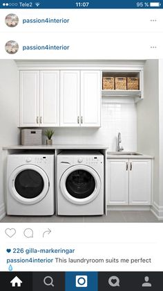 Small laundry room design ideas will certainly assist you to take pleasure in the location around your washer and also clothes dryer. Locate the best ideas for 2018 as well as transform your laundry room design Laundry Room Remodel, Basement Laundry, Farmhouse Laundry Room, Laundry Closet, Laundry Room Organization, Laundry In Bathroom, Organization Ideas, Laundry Organizer, Laundry Area
