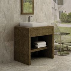 Beautifully unique! Check out this Heich Bathroom Vanity collection available at Palazzi Bros Tile & Granite.