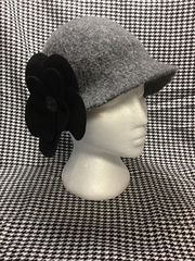 DIY knitted then felted Cloche hat for fall and winter.  You could decorate it in so many ways.
