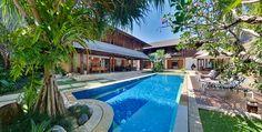 Villa Windu Sari Bali - Day view  panorama of pool http://www.prestigebalivillas.com/bali_villas/villa_windu_sari/9/map/