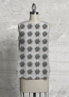 light, sleeveless top design: siriskogstadberntsen find it here:  http://www.shopvida.com/collections/voices/siri-skogstad-berntsen