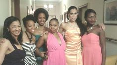 Shades of brown actresses from the play, BLACK WALL STREET  10.2014 in the Bronx