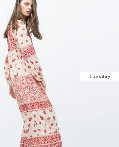 Discover the new ZARA collection online. The latest trends for Woman, Man, Kids and next season's ad campaigns. Boho Fashion, Fashion Dresses, Fashion Design, Zara, Bohemian Summer, Boho Girl, Fashion Catalogue, 2016 Trends, Female Models