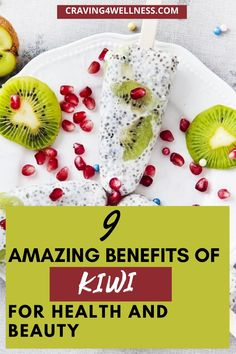 kiwi is loved by everyone but do you know? it is filled with many health and beauty benefits. Kiwi Nutrition, Kiwi Health Benefits, Vitamins, Health And Beauty, Healthy Eating, Breakfast, Food, Eating Healthy, Morning Coffee