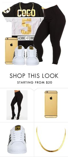 Untitled #378 by oh-thatasia on Polyvore featuring adidas and Goldgenie