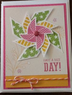 Pinwheel card using May's Stamp of the Month