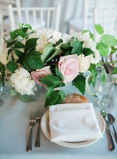 Beautiful flowers for the table! #SwellFlowers