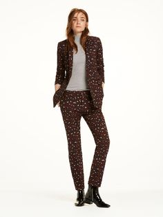 Tailored Jacquard Blazer... and thé leopard print pants!