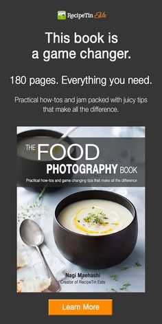 Just got this book - fantastic. Everything the beginning food photographer needs.The Food Photography Book | A book by Nagi from RecipeTin Eats