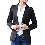 Women's All Seasons Blazer,Solid Long Sleeve Blue / Pink / White / Black Polyester Medium 2017 - $42.99