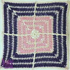 Looking for a new crochet project to tackle? Try this Crossed Afghan Square!