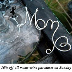 Items similar to Unique Mother's Day Gifts, Mom Wine Charm, Baby Shower Wine Glass Tags on Etsy