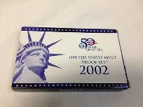2002 United States Mint Proof Set and 5 State Quarters Proof Set w Coa