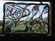 Abstract Stained Glass panel.
