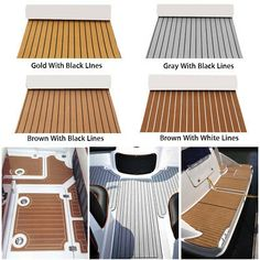 1 x Teak Decking Sheet. -Provides a non-slippery surface for your boat in both wet & dry conditions. The color may have different as the difference display,pls understand. Teak Flooring, Carpet Flooring, Boat Carpet, Marine Flooring, T6 California, Boat Upholstery, Sailboat Interior, Boat Restoration, Boat Projects