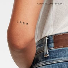 1993 Birth Year Temporary Tattoo (Set of – Small Tattoos Date Tattoos, Red Tattoos, Little Tattoos, Mini Tattoos, Heart Tattoos, Tatoos, Above Elbow Tattoo, Elbow Tattoos, Temp Tattoo