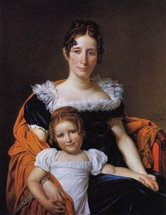 Mother and child portrait painted in 1816-- no artist noted; lamodeillustree