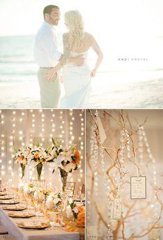 Elegant-beach-wedding-decor-wedding-reception-tablescapes-floral-centerpieces.original Wedding Reception Decorations Elegant, Beach Wedding Reception, Wedding Themes, Wedding Centerpieces, Wedding Table, Wedding Ideas, Decor Wedding, Beach Weddings, Floral Centerpieces
