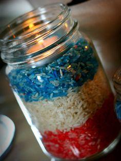 Colored Rice Votives