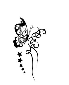 No stars or tribal, just the butterfly - wrist