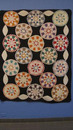 An antique quilt (Folk Art Museum, New York). Found in Sue Spargo's blog.